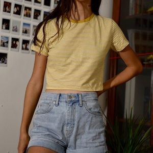 NWT brandy melville haille yellow top